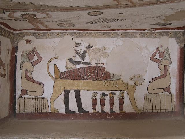 Paintings from the tomb of Petosiris at Muzawaka (XLIII)