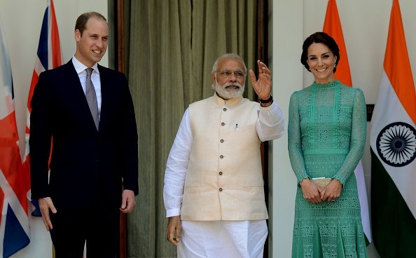 Catherine, Duchess of Cambridge and Prince William, Duke of Cambridge meet Prime Minister of India Narendra Modi