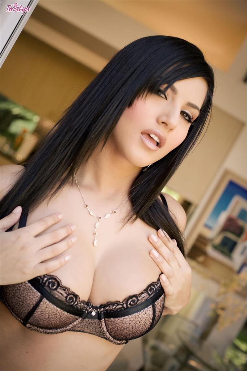 Sexy Sunny Leone in Brown Bra