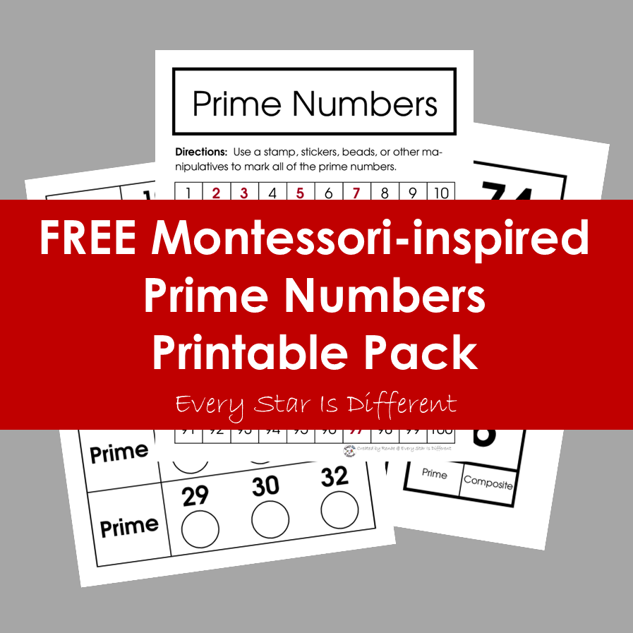FREE Prime Number Printable Pack