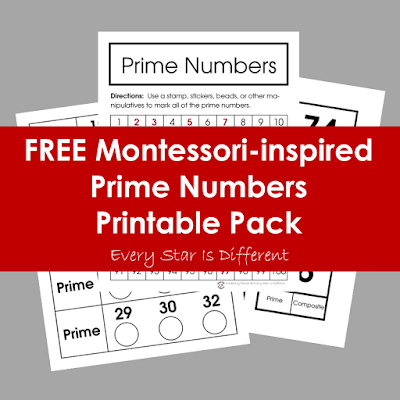 FREE Montessori-inspired Prime Numbers Printable Pack