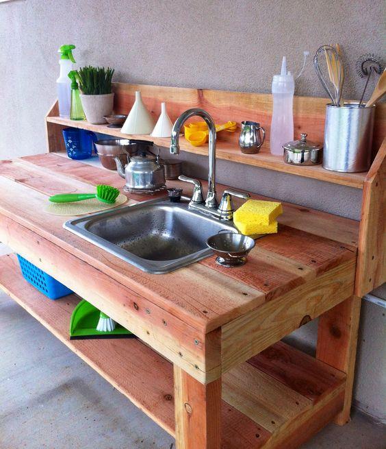 Pequefelicidad Cocinitas Exteriores Diy Las Ideas Mas Inspiradoras - Ideas-para-reciclar-unos-palets