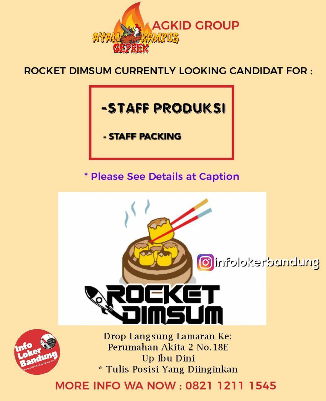 Lowongan Kerja Rocket Dimsum Bandung Maret 2019