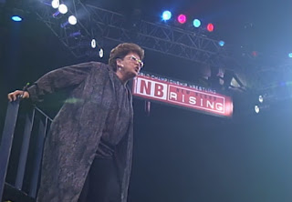WCW New Blood Rising 2000 - Buff Bagwell's mum featured in a Judy Bagwell on a pole match