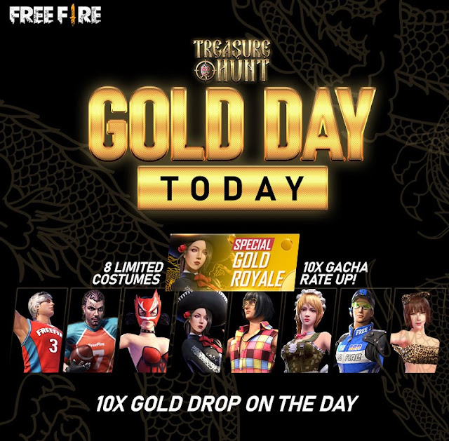 Event Gold Royale Spesial Free Fire 8 Bundle jadul Hadir Kembali