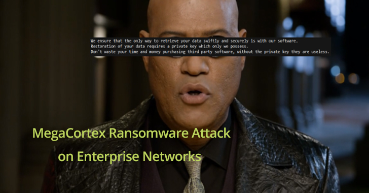New MegaCortex Ransomware Attack on a Large Number of Enterprise Networks using Red-Team Attack Tools
