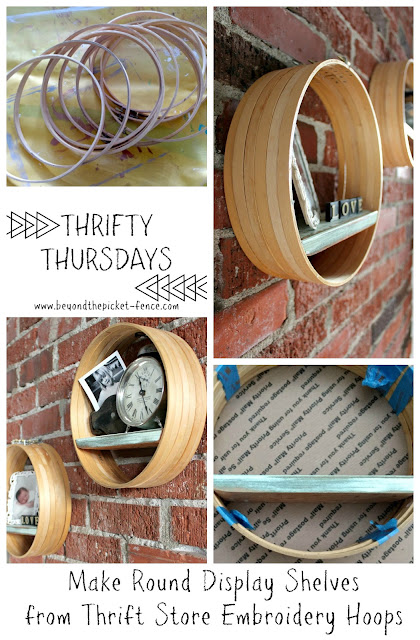 Upcycle Thrift Store Embroidery Hoops Into Boho Industrial Display Shelves