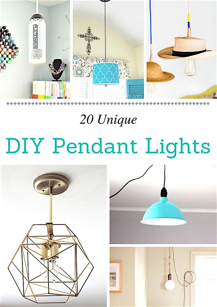 Best 20 Unique Pendant Lights  round up shabbyfufu