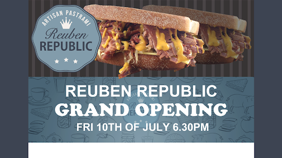 Landing Page Design ★ Reuben Republic Cafe