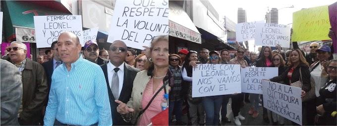 """""""Donde vaya Leonel  nos vamos con él"""", leonelistas se movilizan en Alto Manhattan contra alegado fraude"""