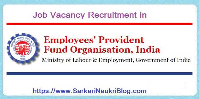 EPFO Vacancy Recruitment