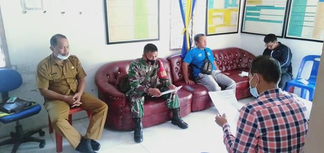 Melaksanakan Komsos Bersama Perangkat Desa Dilakukan Personel Jajaran Kodim 0208/Asahan