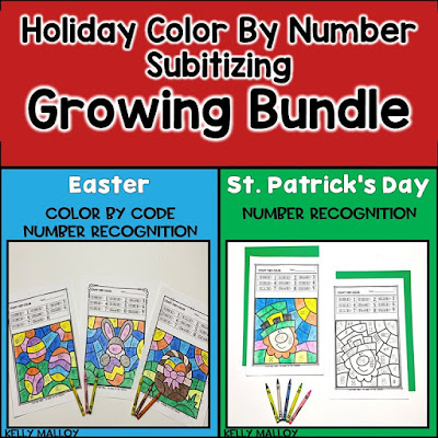 Holiday Subitizing Color By Number Bundle