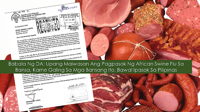 An OFW sought the help of Mr. Raffy Tulfo to recover the processed meat products she brought from Hong Kong which were confiscated by the Bureau of Customs personnel at the Ninoy Aquino International Airport.  The confiscation is due to the strict implementation of the memorandum from the Department of Agriculture to prevent the meat products of any sort. The memorandum was made to prevent the entry of the dreaded African Swine Flu (ASF) and avoid the spread of the said disease to the Philippines.       Ads       Agriculture Secretary Emmanuel Piñol warns as he disclosed that not only the Philippines has to be in high alert against the entry of processed pork products and other pork but first world countries including the United States of America as well.  A shipment of processed pork products that came from China was confiscated when it tried to enter the US according to Piñol.  This incident might also happen in the Philippines if the entry ports will not be closely monitored and secured. It could cause damage to the country's P200-billion hog industry.  Hence, Piñol sought the help of his fellow government agencies, particularly the Bureau of Customs, to strictly implement the memorandum which banned the entry of shipment of any pork products, including canned or processed products from several countries with the presence of ASF.  These countries include China, Hong Kong, and Macau and other Chinese territories; Vietnam and Cambodia in Southeast Asia; Belgium, Russia, Ukraine, Bulgaria, Hungary, Czech Republic, Latvia, Moldova, Poland and Mongolia in Europe and Eastern Europe.  Filipino tourists and overseas Filipino workers (OFWs) have to be reminded that it is prohibited to bring into the country pork products that came from these countries whether it is fresh or processed and regardless of its brand name and label.    Piñol stressed that any meat items will be confiscated at the airport and the offender will have to payP200,000 in fine. He reiterated that the information was already disseminated since August of last year   Ads      Sponsored Links  Incoming travelers cannot argue with the quarantine officers assigned in the airports when their baggage is being checked and confiscated if processed pork products are found in the luggage, Piñol added.  Piñol was referring to the recent incident involving 32 cans of Maling, a processed pork product, brought by an OFW from Hong Kong, which was confiscated. But the banned products were eventually released to the OFW upon the intercession of broadcaster Raffy Tulfo. Regarding the matter, the Department of Agriculture seeks probe.      ©2019 THOUGHTSKOTO