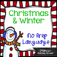 Christmas no prep activities for speech therapy