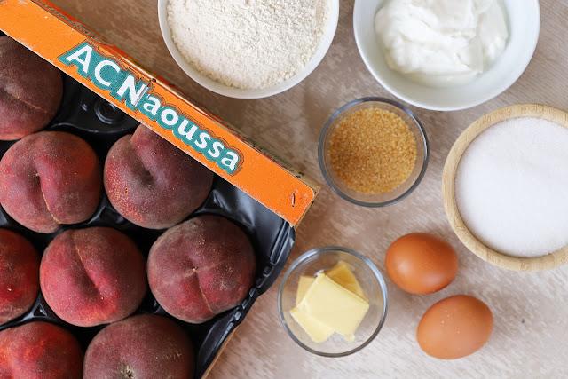 Υλικά για Κέικ με Ροδάκινα