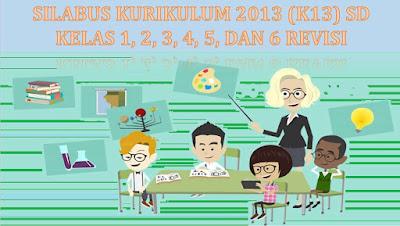 Download gratis silabus kurikulum 2013 SD/MI Revisi Tematik lengkap semua kelas 1, 2, 3, 4, 5, dan 6.