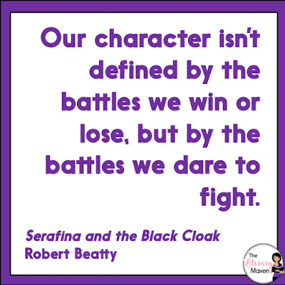 Serafina and the Black Cloak by Robert Beatty is a cross between fantasy and mystery/thriller. Despite a slow start, you'll be drawn into the mystery surrounding who the Man in the Black Cloak might be and where he might strike next. Read on for more of my review and ideas for classroom application.