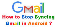 How to Stop Syncing Gmail?