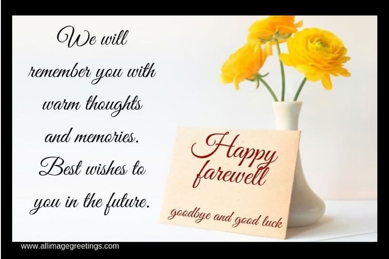 Farewell wishes image
