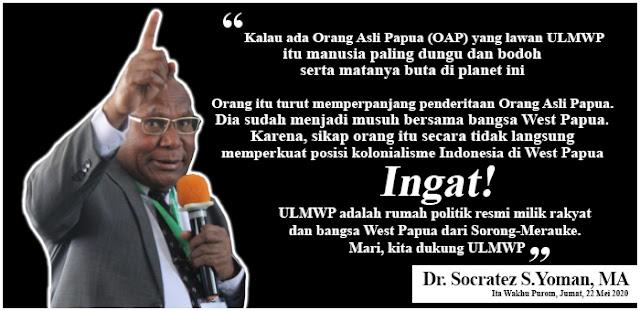 """Gembala Dr. Yoman: Melawan ULMWP Berarti """"Berdansa di atas Tulang Belulang Bangsa Papua"""""""
