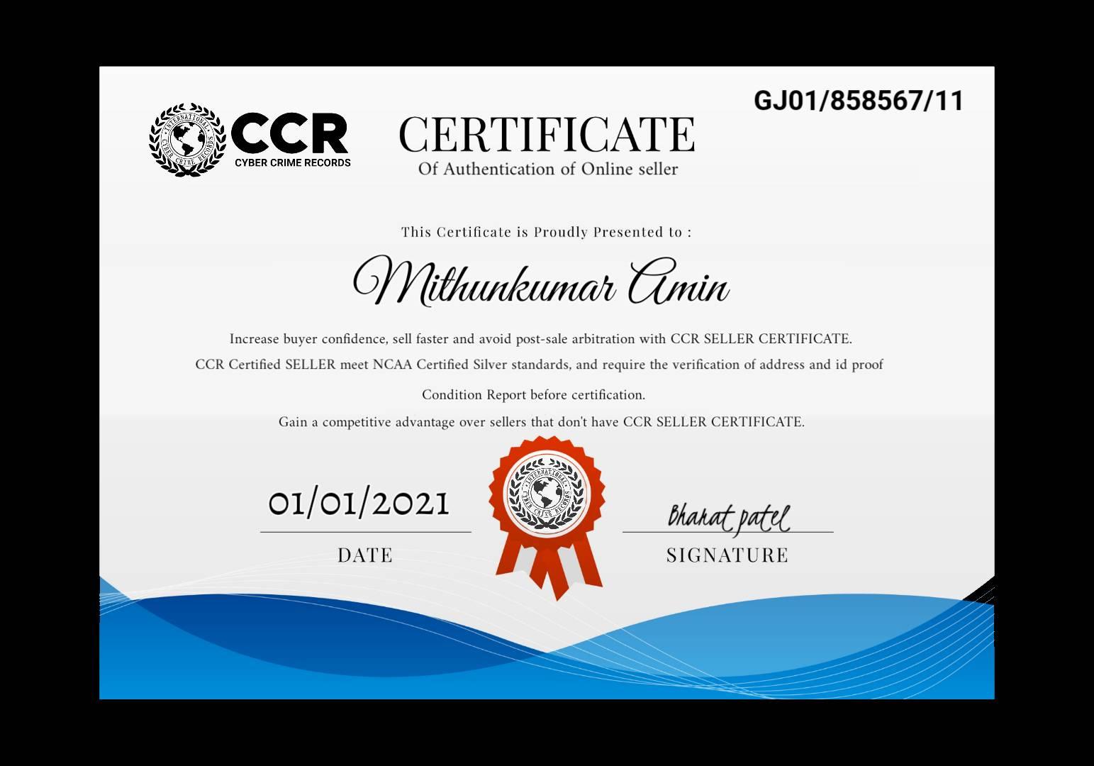 Online seller id: GJ01/858567/11