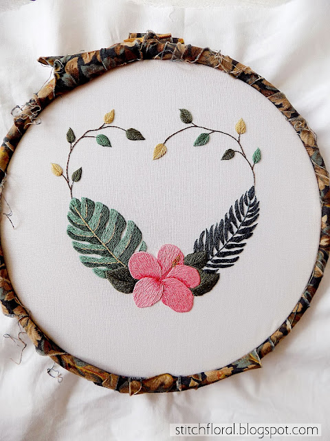 Hibiscus embroidery