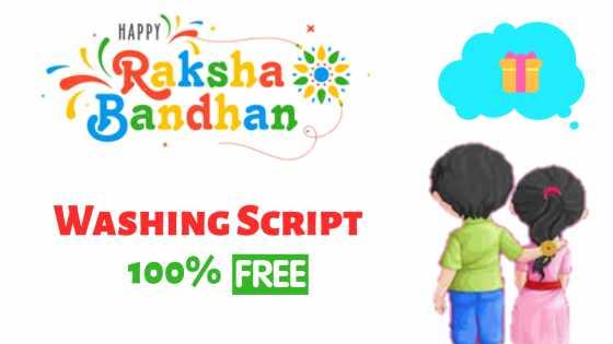 rakhi bandhan wishing script for free