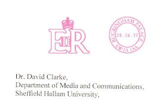 Envelope - Letter To David Clarke Fraom Buckingham Palace 6-28-17