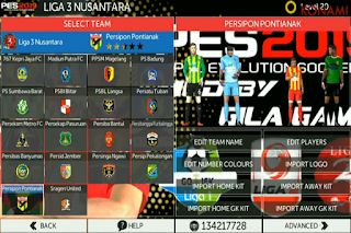 FTS Mod PES 2019 Full Indonesia