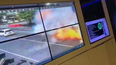 VIDEO: Detik-detik Terjadinya Ledakan Bom Bunuh di Makassar