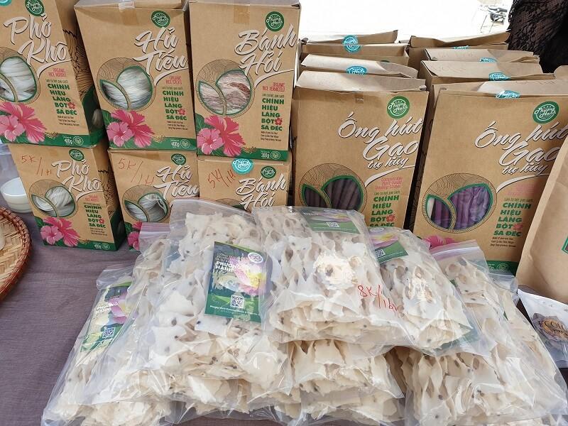 Các sản phẩm tại ẩm thực Làng bột Sa Đéc