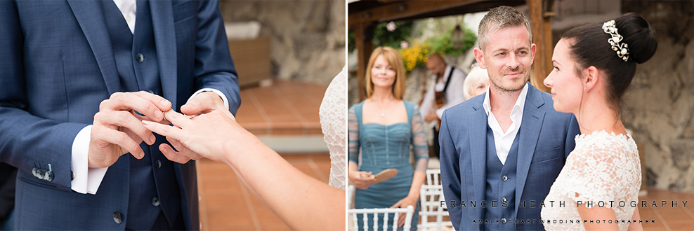 Wedding ceremony on the Amalfi coast