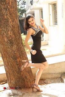 Actress Poojitha Pallavi Naidu Stills in Black Short Dress at Inkenti Nuvve Cheppu Movie Platinum Disc Function  0270.JPG