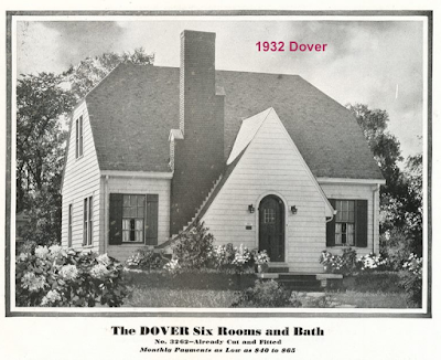 black & white catalog image of Sears Dover in 1932 Sears Modern Homes catalog