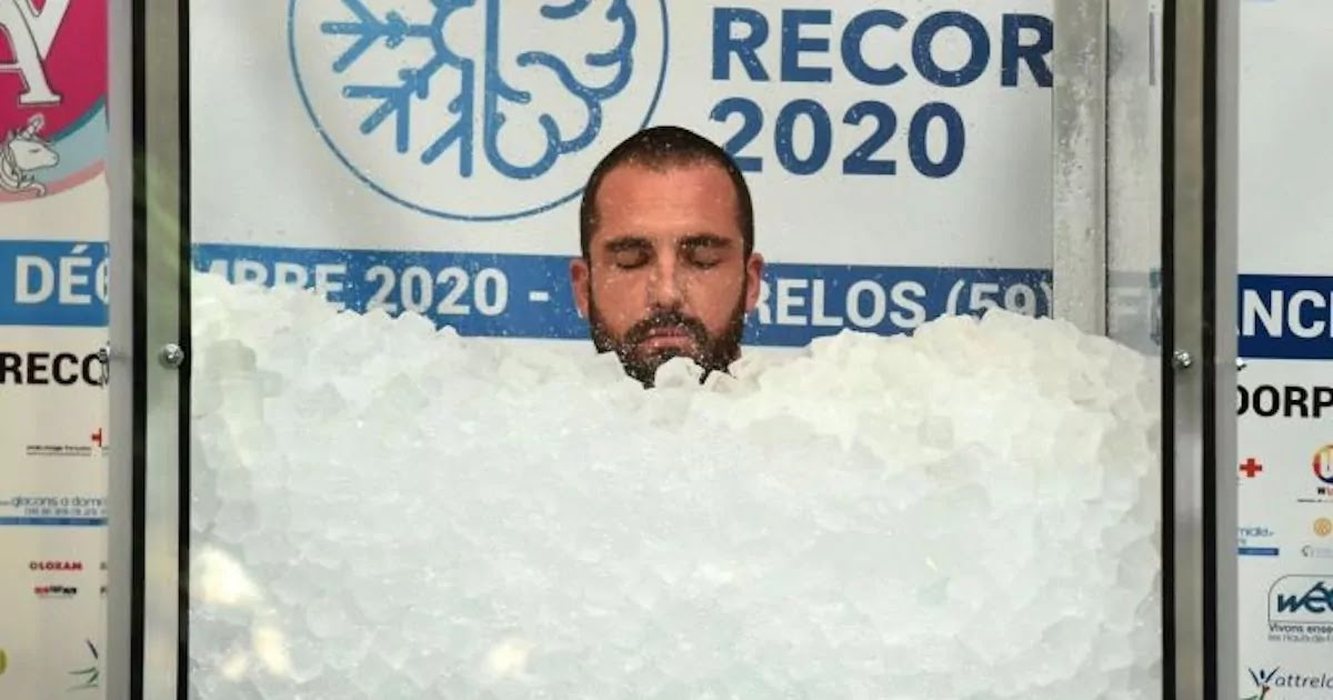 Frenchman Breaks World Record For Immersion In Ice In Order To Raise Money For Childhood Cancer Research