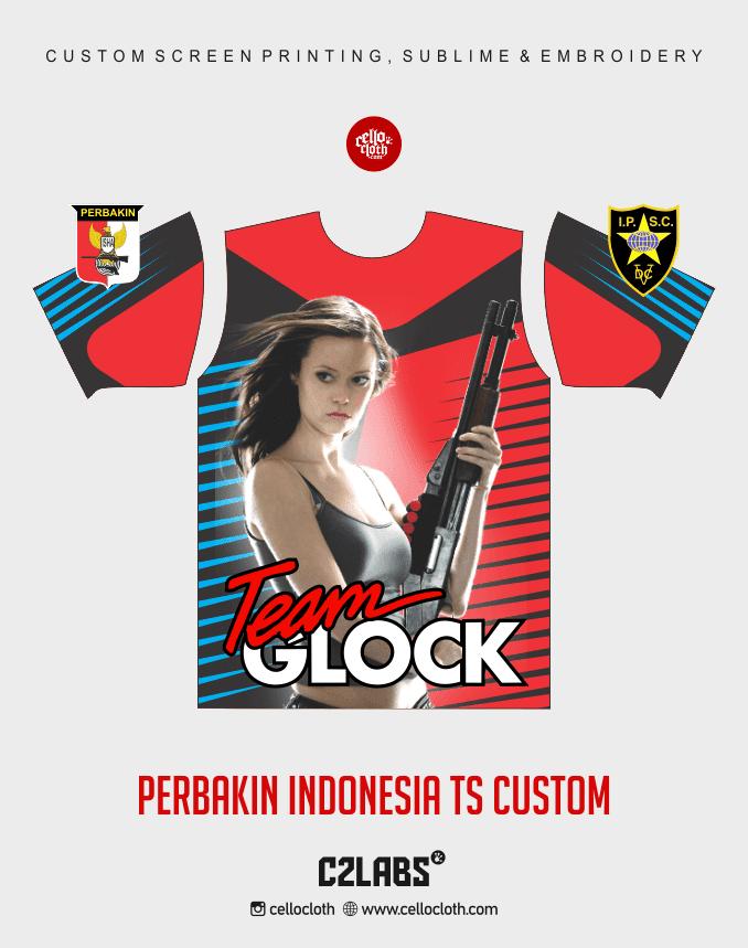 Ts 8 Perbakin Indonesia Baju Kaos Jersey Printing - Vendor Printing Jersey Jogja