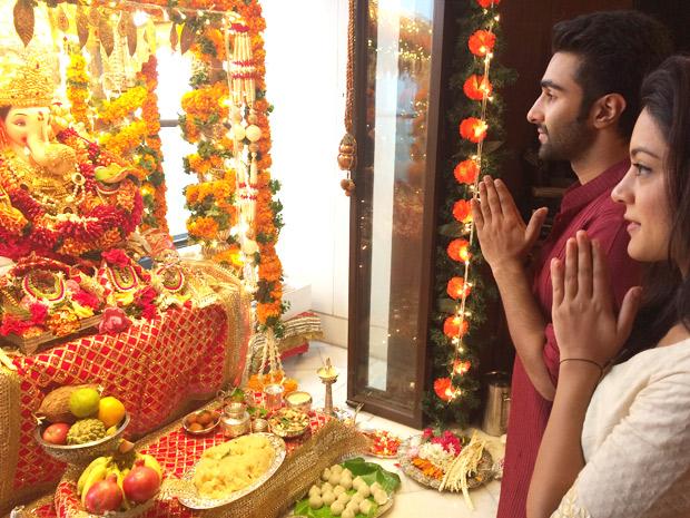 Team Qaidi Band Celebrates Ganesh Chaturthi at Aadar Jain's house