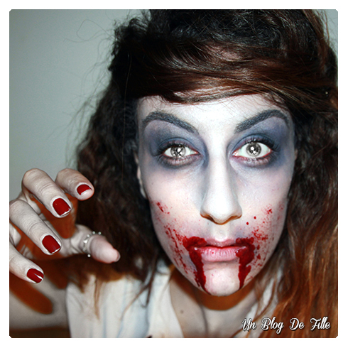 http://unblogdefille.blogspot.com/2014/10/halloween-makeup-zombie-walking-dead.html