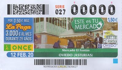 mercado, Fontán, cupón, ONCE