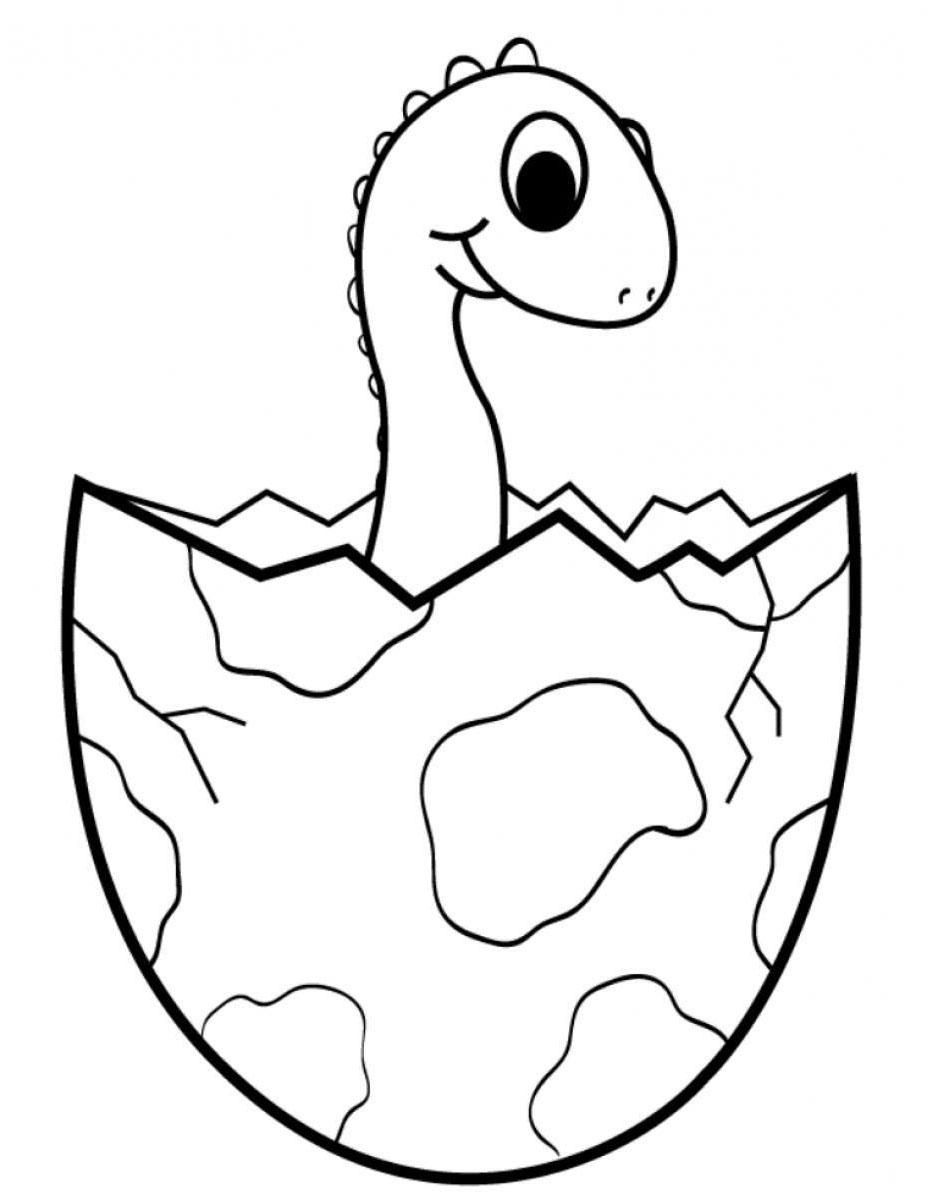 Tranh tô màu khủng long mới nở