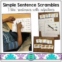 https://www.teacherspayteachers.com/Product/Simple-Sentence-Scrambles-I-like-sight-words-and-adjectives-817850
