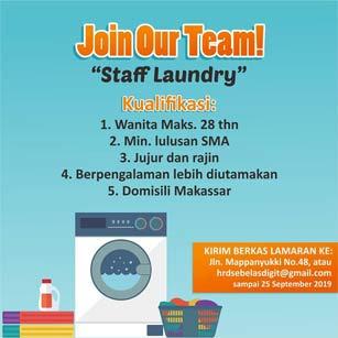 Lowongan Kerja Staff Laundry di Makassar