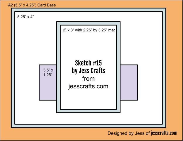 Card Sketch #15 by Jess Crafts