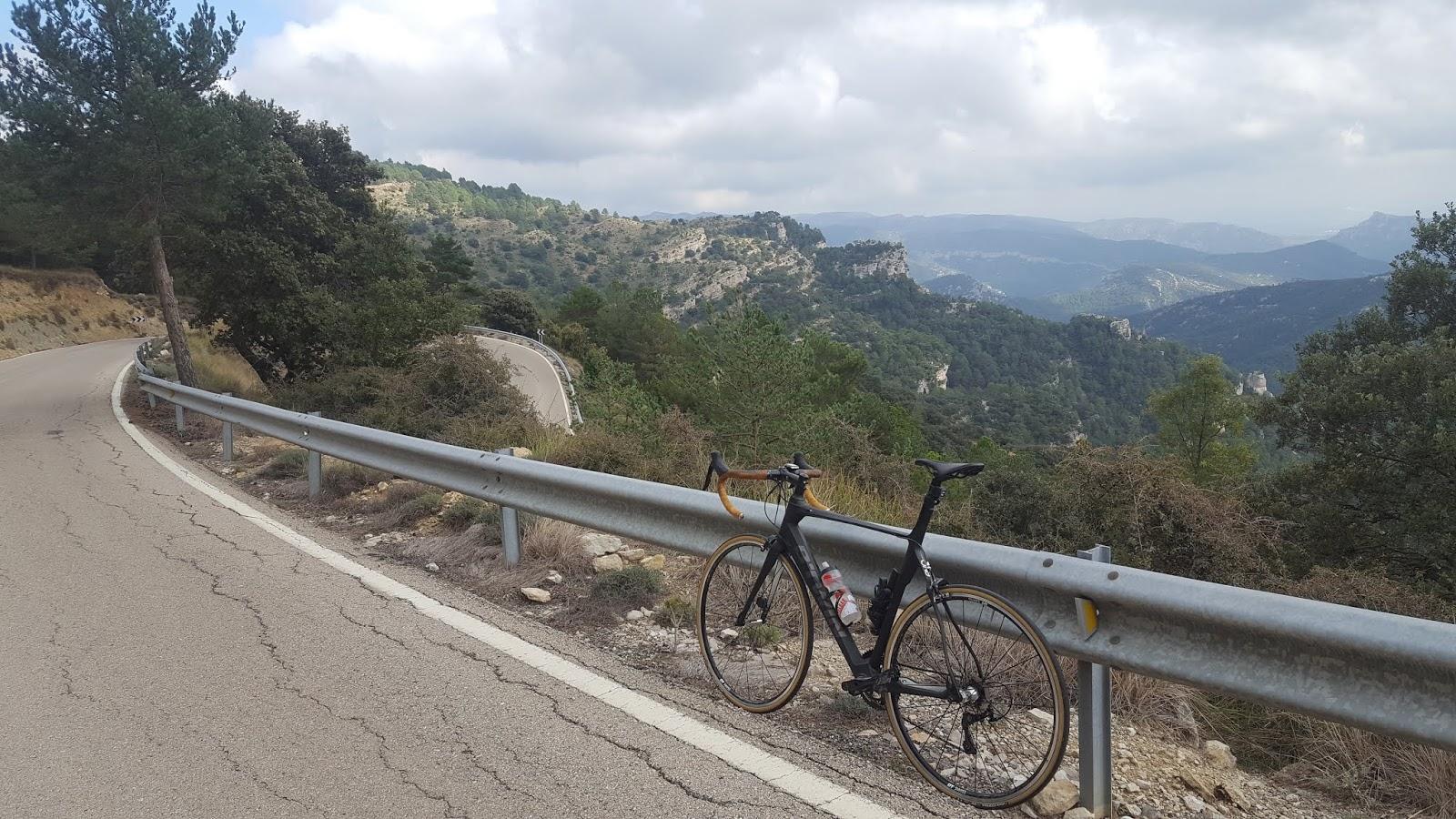 Bicycle on Coll de Fredes, la Tinença de Benifassà, Castellón, Spain