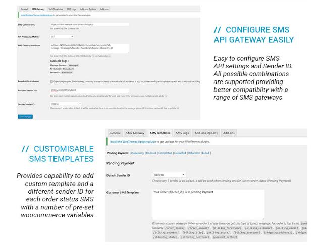 WooCommerce International SMS WordPress Template free