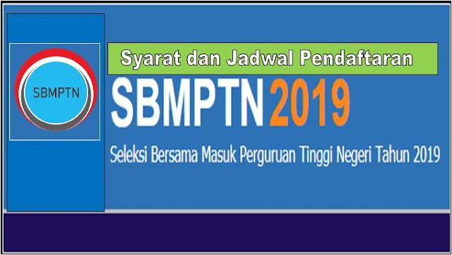 SBMPTSyarat dan Jadwal PendaftaranN 2019