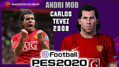 PES 2020 Faces Carlos Tevez 2008 by Andri Mod