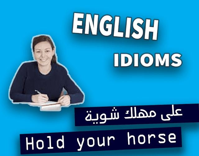 الإنجليزى اللذيذ, مصطلحات اللغة الإنجليزية العامية. English idioms