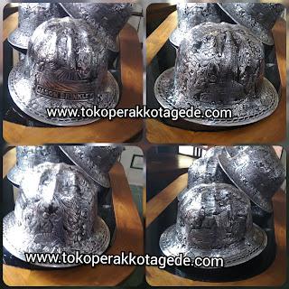 alumunium helmet engraved